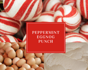 Peppermint Eggnog Punch - Holiday Drink Recipes