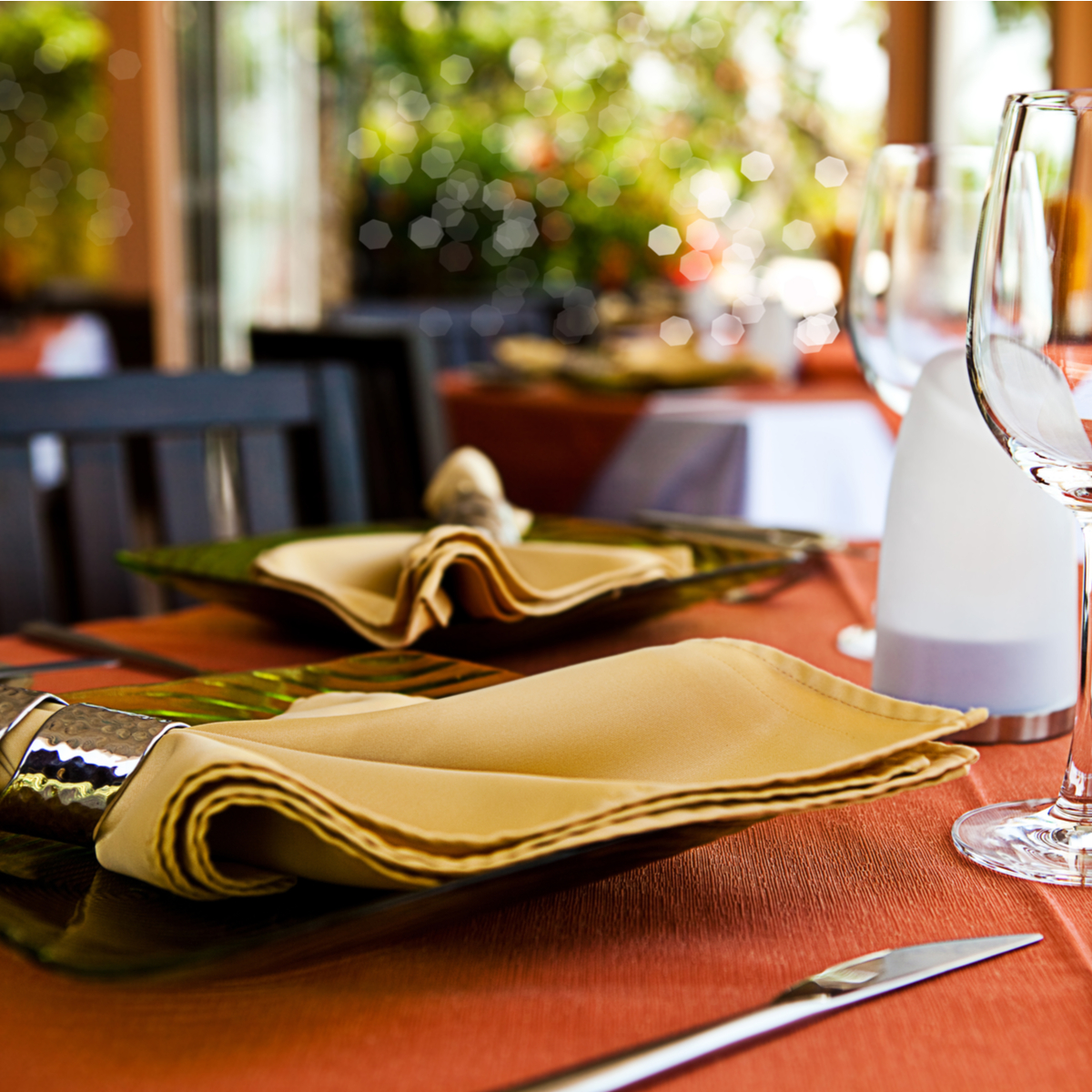restaurant ambience linens